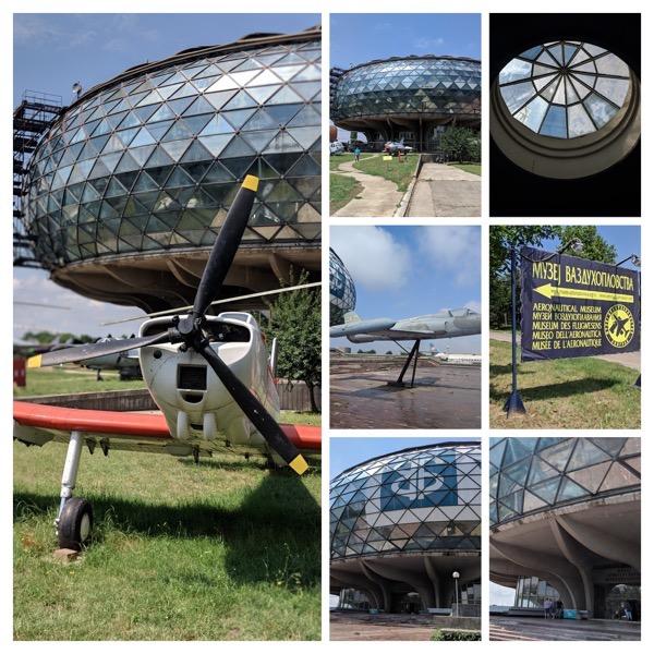 Collage belgrad flugzeugmuseum aussen