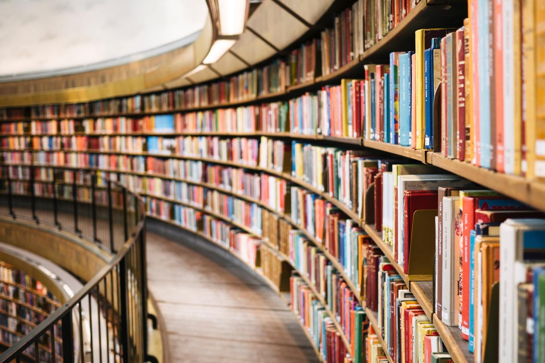 Ewig lange Büchereiregale. Foto: Susan Yin/Unsplash