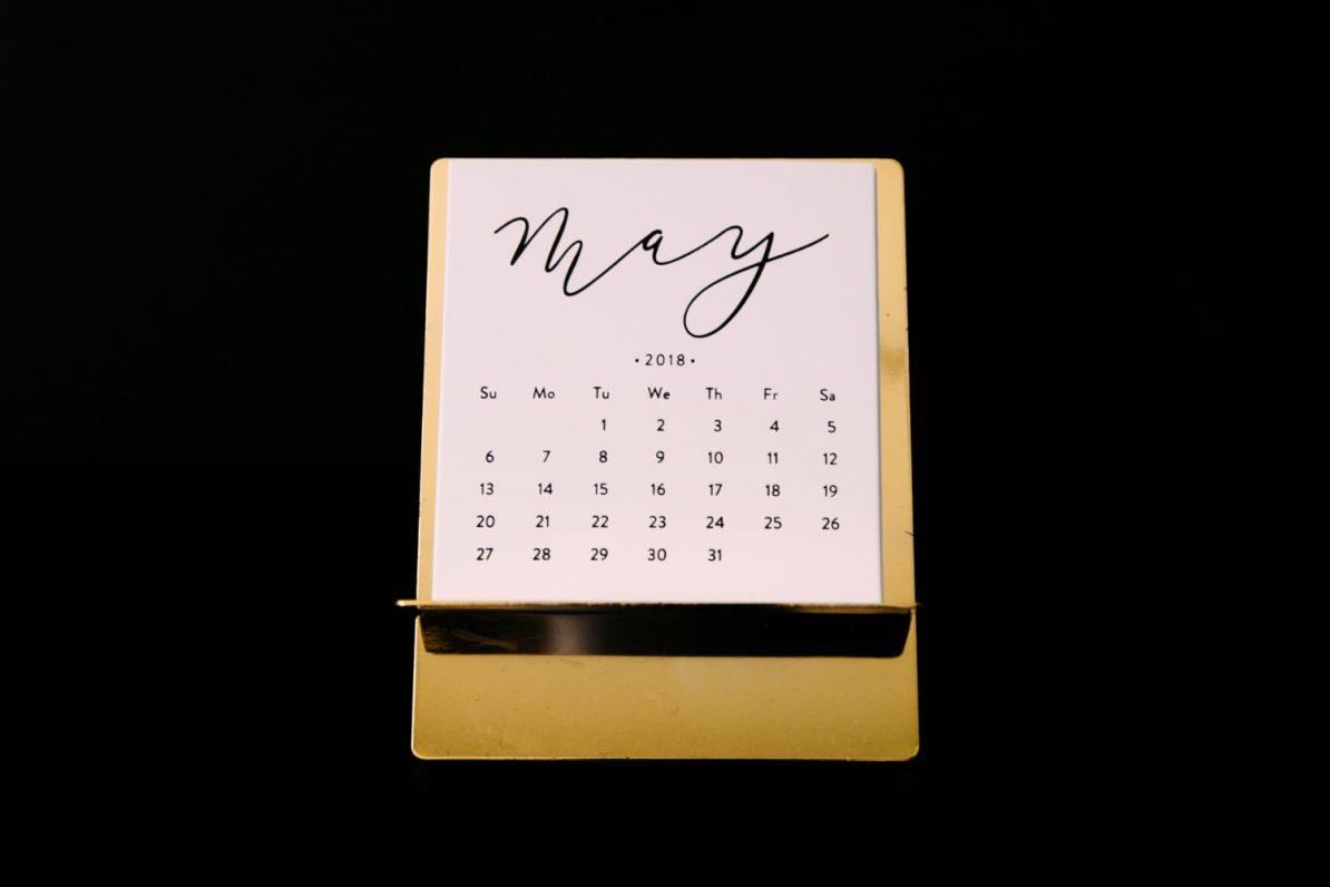 Symbolbild: Kalenderblatt zeigt den Mai